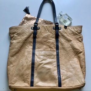Anthropologie Pilcro leather tote